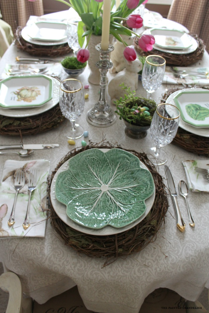 lettuce-plate-on-easter-table