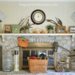 A Caned Table and a Family Room for Fall