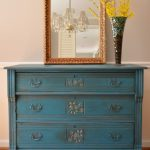 Paint Color Highlight – General Finishes Corinth Blue with Glaze