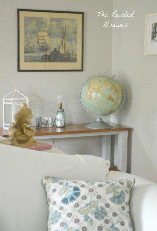 Living Room Corner www.thepainteddrawer.com