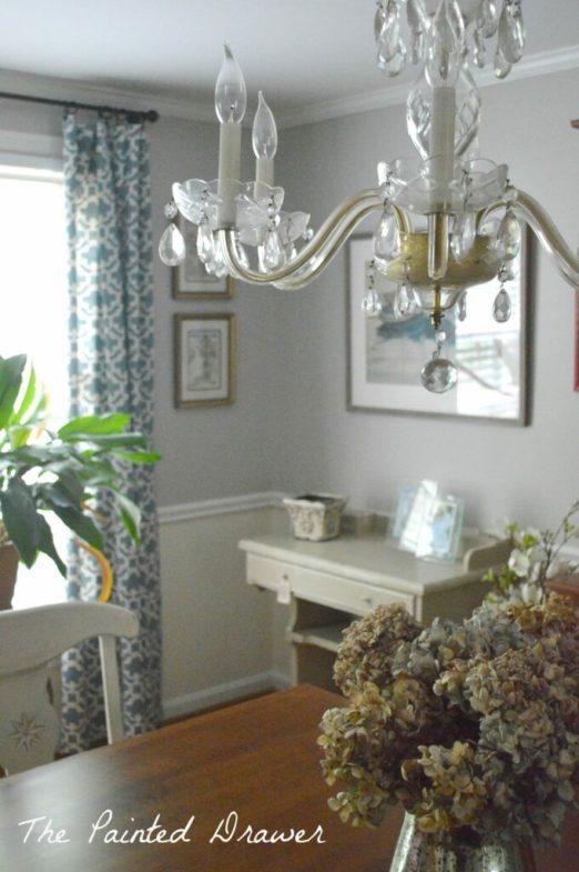 Dining Room Corner www.thepainteddrawer.com