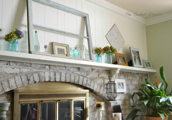 benjamin moore guilford green family room with thrift store finds