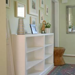 Thrift Store Bookcases Transformed to Built-Ins – Before and After
