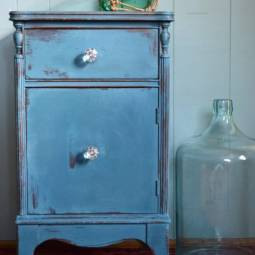 Charming Bedside Table Before and After