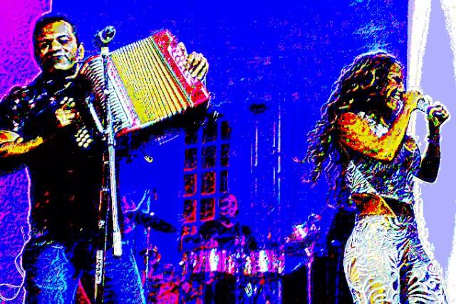 Samy y Sandra en abstracto