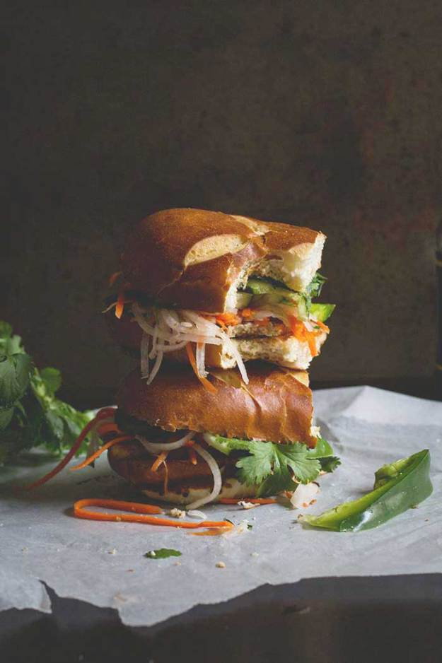 Baked Tofu Banh Mi // The Pancake Princess