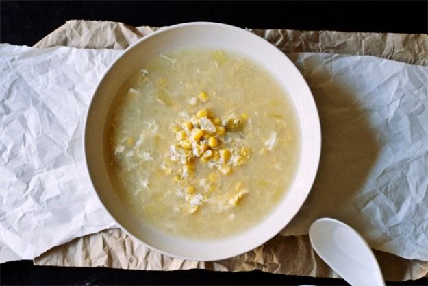 Simple Corn + Egg Drop Soup // The Pancake Princess