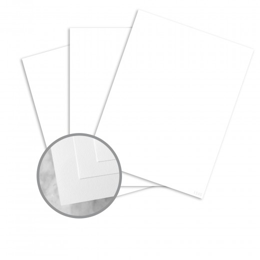 Ultra Bright White Card Stock - 8 1/2 x 11 in 100 lb Cover Smooth 80