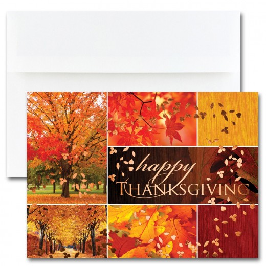 Thanksgiving Collage Cards from the Fine Impressions Blank