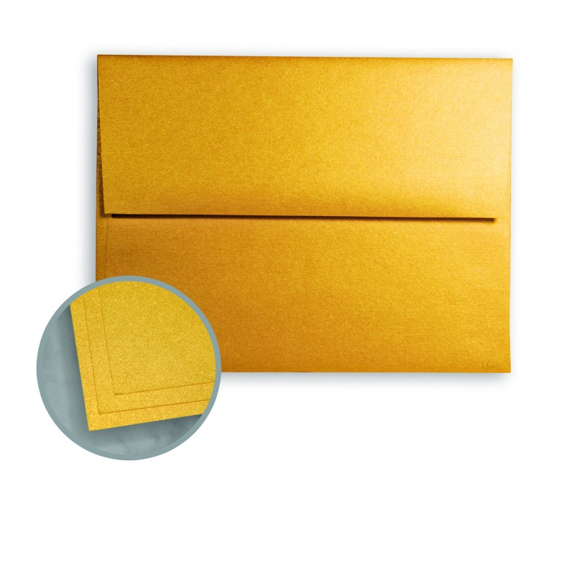 Gold Ore Envelopes - A2 (4 3/8 x 5 3/4) 81 lb Text Metallic ASPIRE