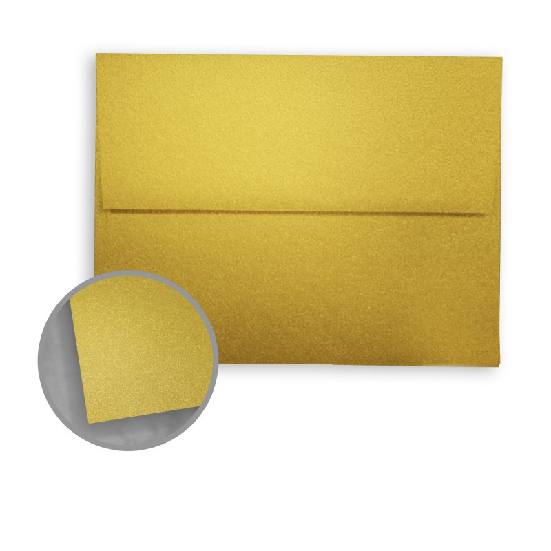 Pure Gold Envelopes - A2 (4 3/8 x 5 3/4) 81 lb Text Metallic - envelope a2