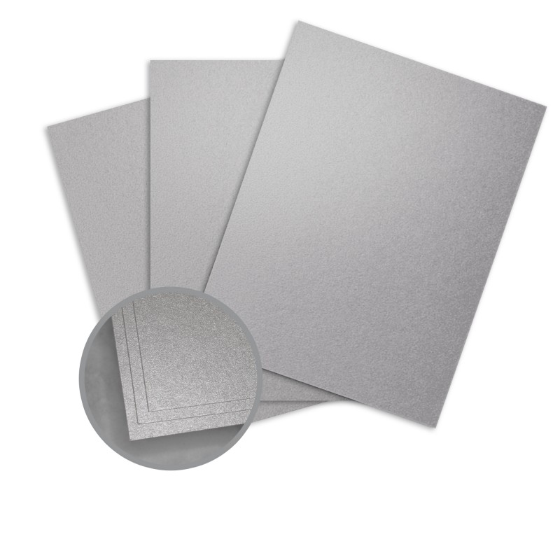 Pure Silver Card Stock - 8 1/2 x 11 in 81 lb Text Metallic ASPIRE