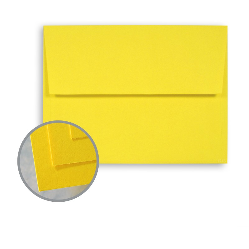 Sun Yellow Envelopes - A6 (4 3\/4 x 6 1\/2) 60 lb Text Semi-Vellum - 4x6 envelope template