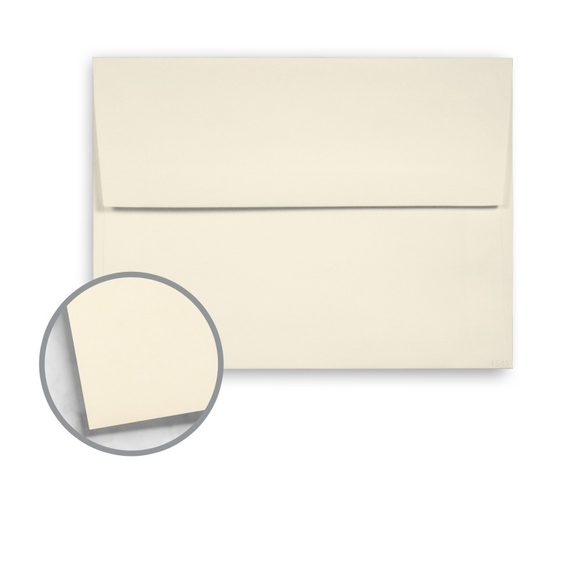 White Envelopes - A7 (5 1/4 x 7 1/4) 70 lb Text Vellum 10 Recycled