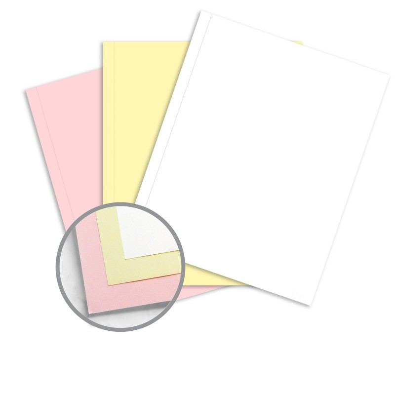 Multi-Colored Carbonless Paper - 9 x 11 in 21 lb Writing NCR Paper - colored writing paper