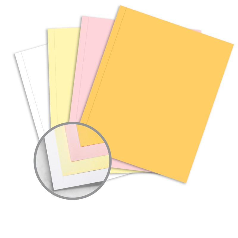Multi-Colored Carbonless Paper - 9 x 11 in 213 lb Writing NCR - colored writing paper