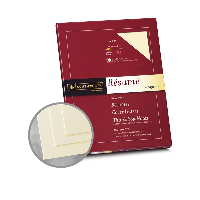 Ivory Paper - 8 1\/2 x 11 in 24 lb Bond Wove 100 Cotton - ivory resume paper