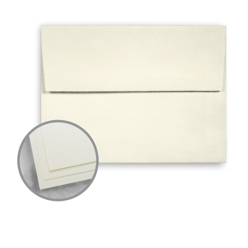 100 PC Cream White Envelopes - A7 (5 1/4 x 7 1/4) 24 lb Writing - horizontal writing paper