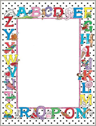 Alphabet Design Paper School Stationery 81357 Geographics