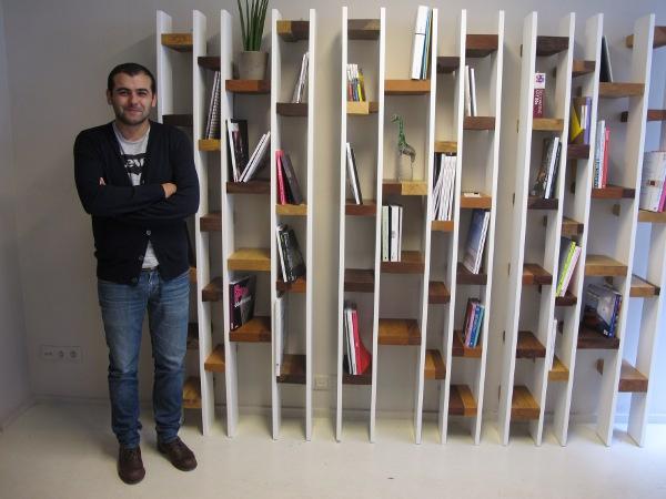 bibliothèque design KANN rue des vinaigriers