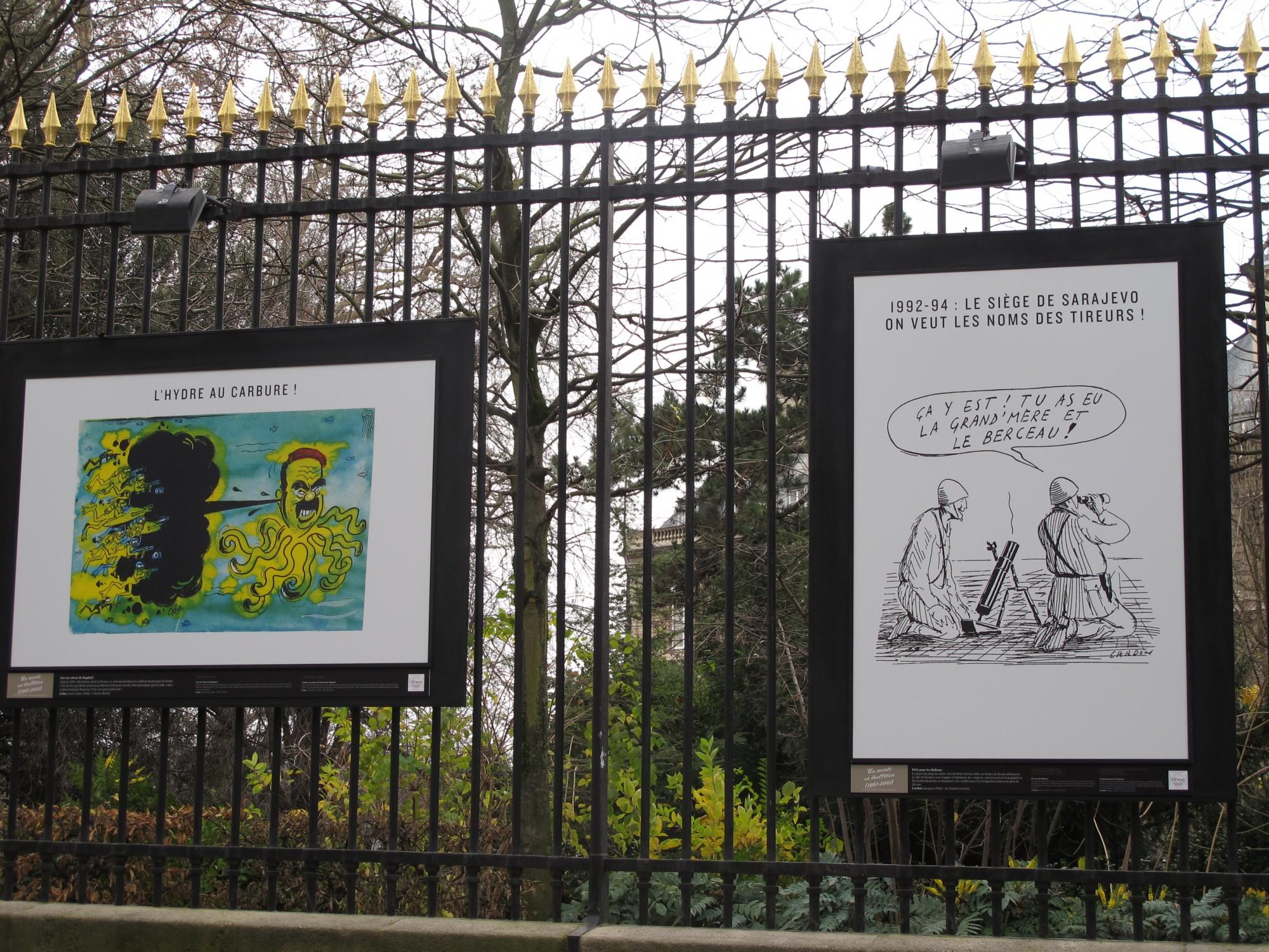 exposition grilles luxembourg le XXème siècle en dessins