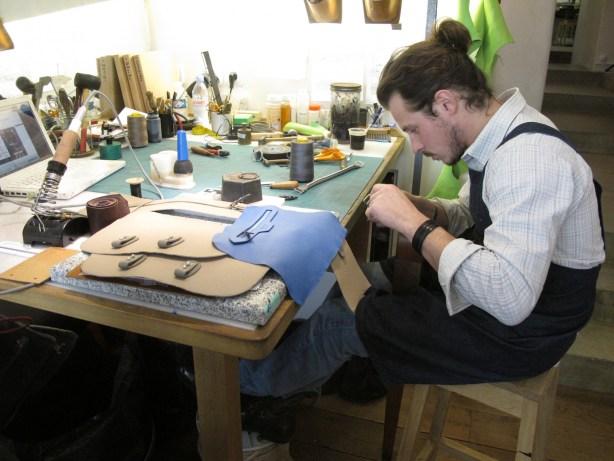 atelier maroquinerie La Contrie rue de la Sourdière