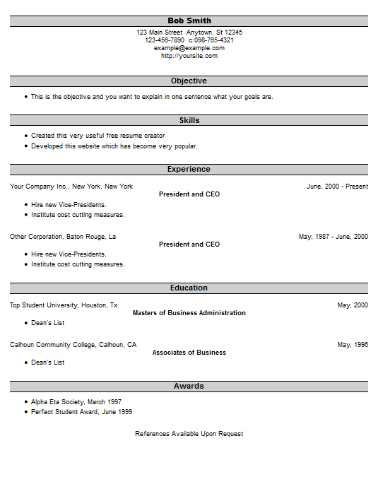 create quick resume create your job winning resume resumeio resume example 25 free resume creator