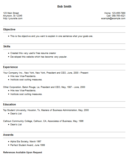 create online resume and download resume example 4 free resume creator