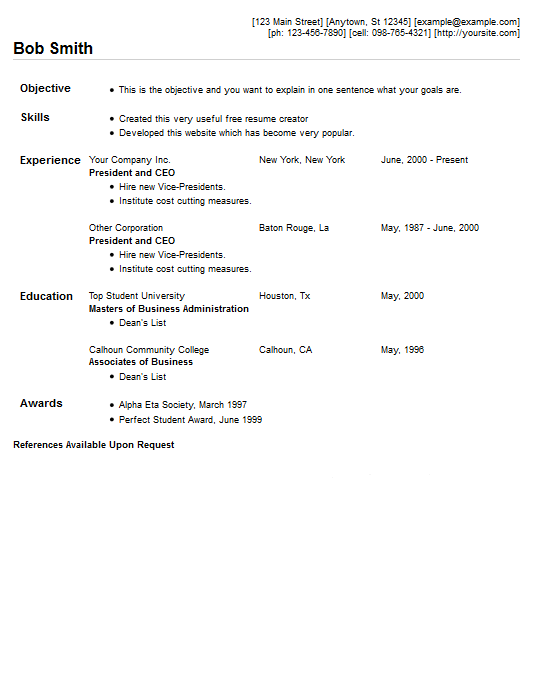 example of quick resume how to make a resume 101 examples included resume example 5 free