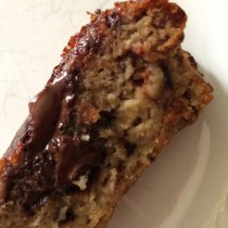 Grain Free Chocolate chip banana walnut bread