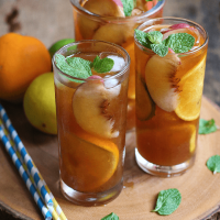 Peach and Citrus Iced Tea