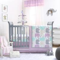 Little Peanut Lilac Crib Bedding Set