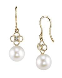 Akoya Pearl & Diamond Lacy Earrings