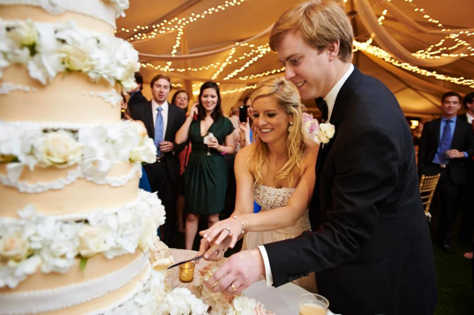 Cake Cutting Seaside Florida Wedding