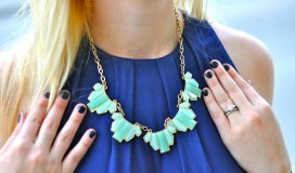 Light Blue Statement Necklace