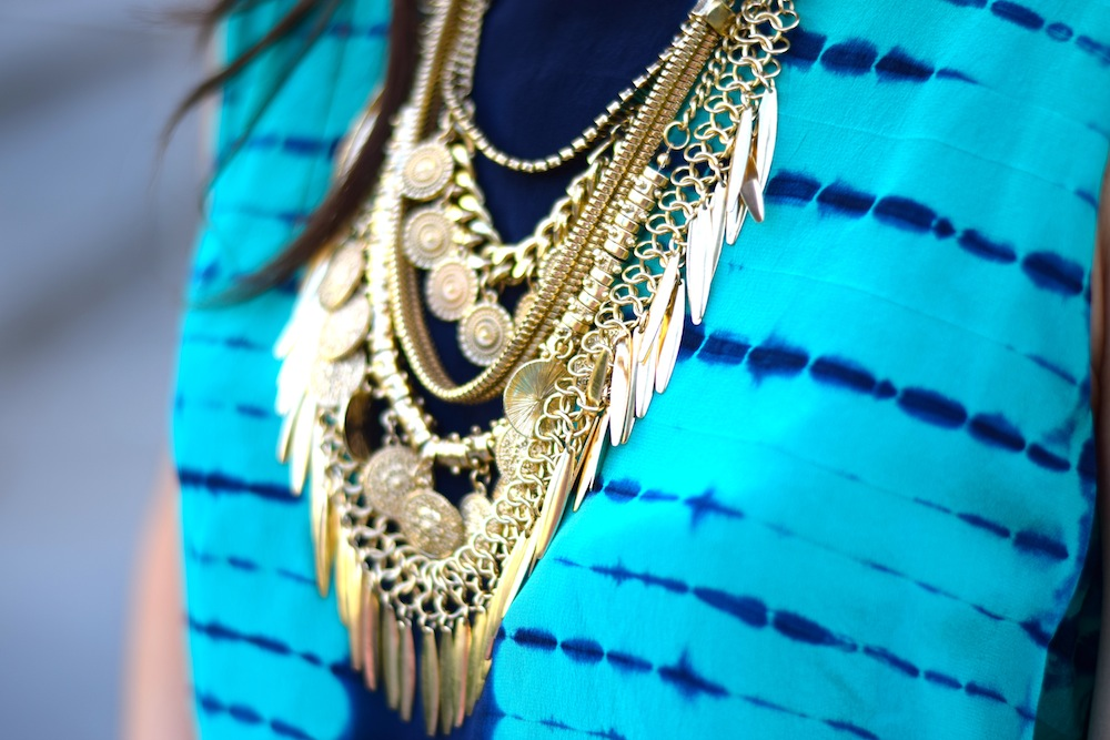 Boho Gold Coin Necklace