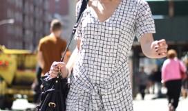Missguided Grid Print Dress