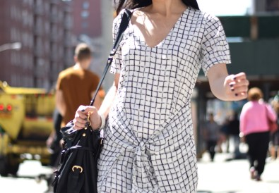 Missguided Grid Print Dress