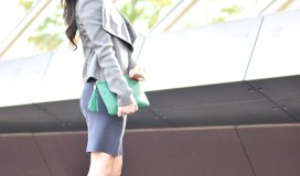 pencil skirt gray fall