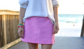 Lilly Pulitzer Pink and White Stripe Skirt