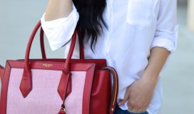 henri bendel red handbag