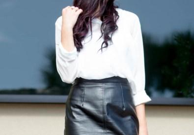 missguided fringe leather skirt-7