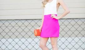 hot pink spring dress