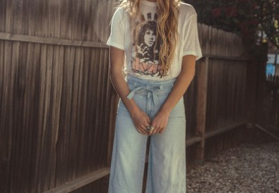 free people belted flare jeans