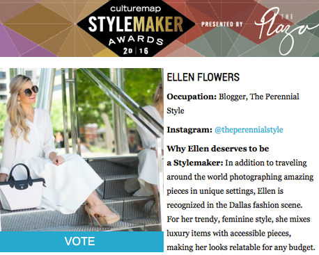 Vote For Me As The Next CultureMap Stylemaker