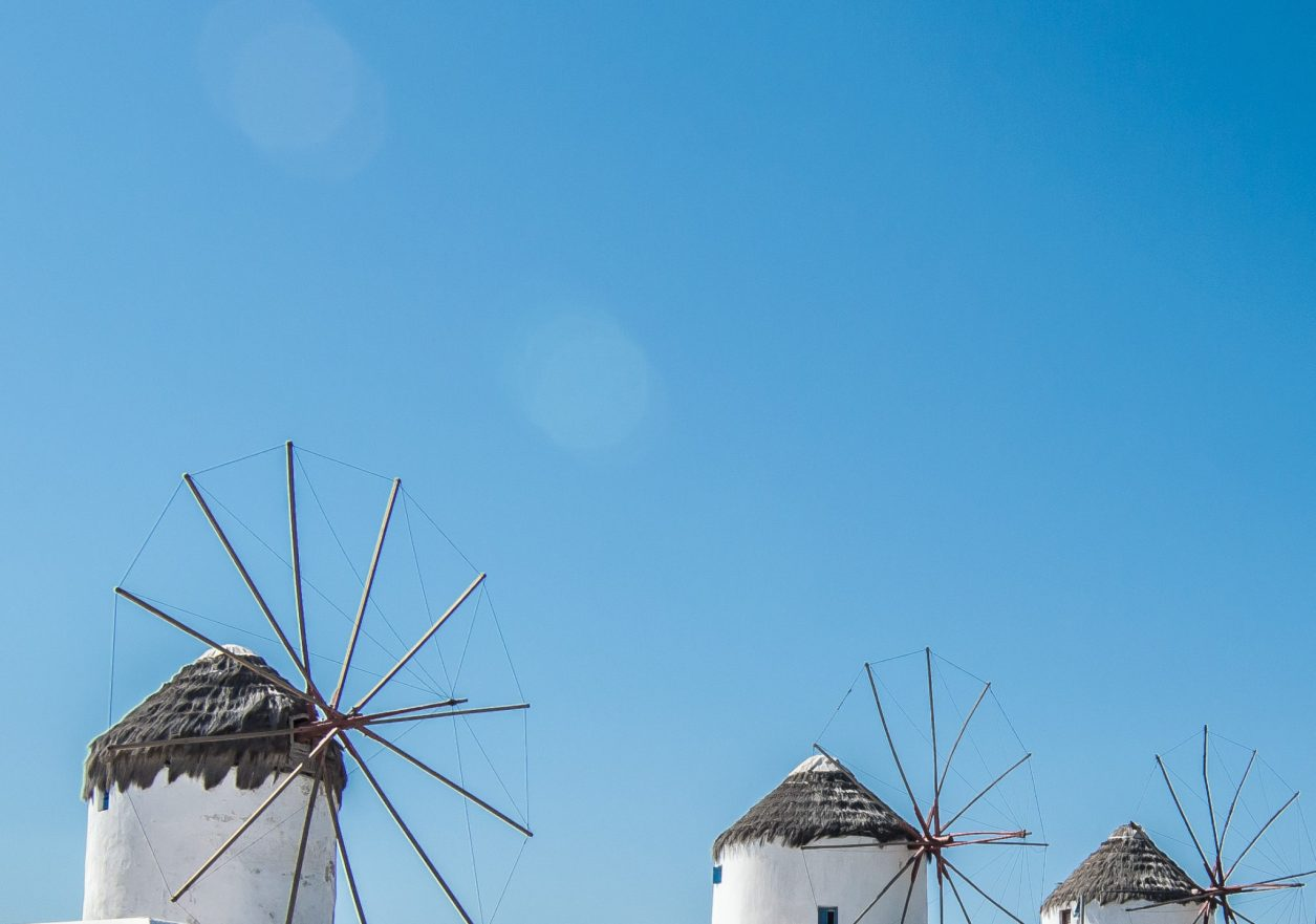 Mykonos Travel Guide windmills of chora