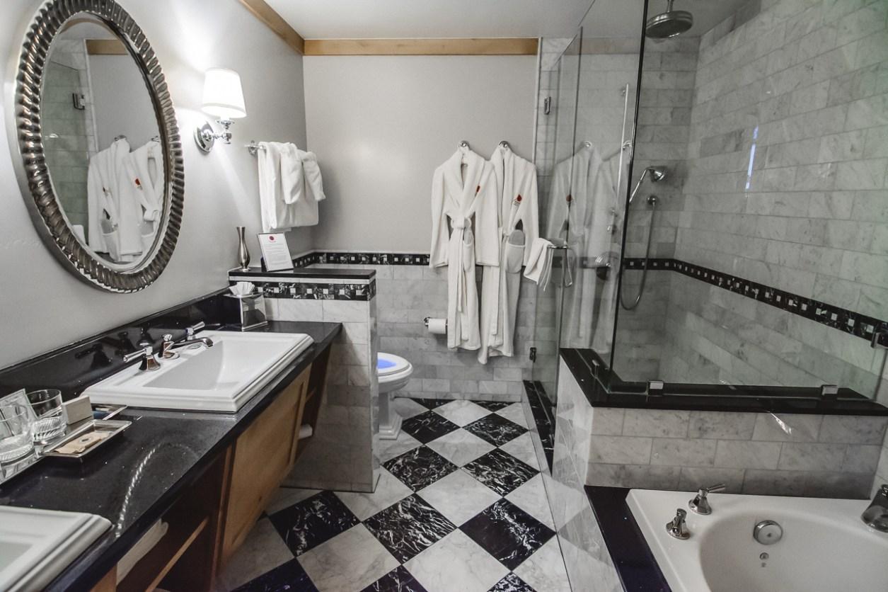 The Landing Resort Tahoe heated bathroom