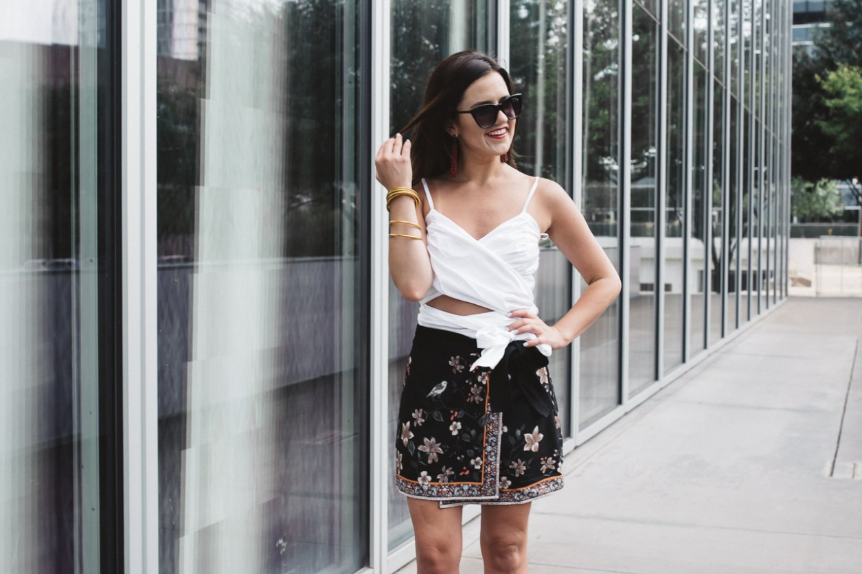 Gianni Bini White Wrap Top and Skort (17 of 22)