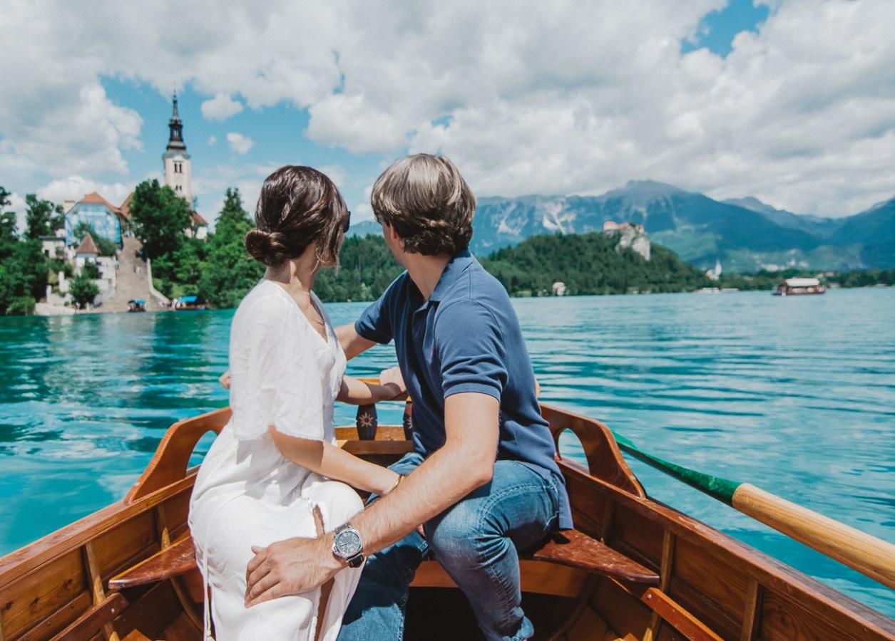 Vila Bled Hotel Slovenia Lake Bled Paddle Boat Bled Church