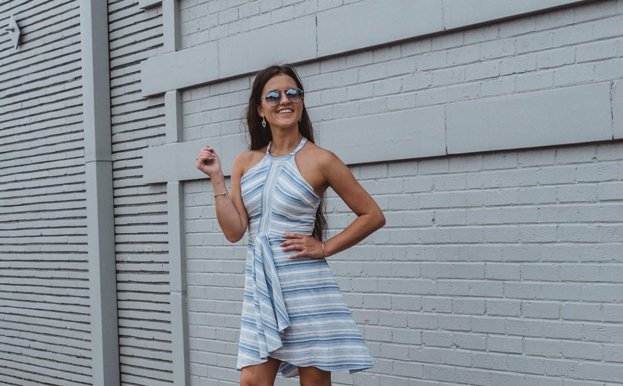 Amanda Uprichard Blue Striped Dress-22